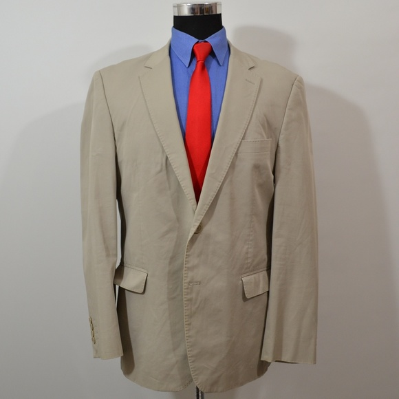 Zara Man 44R Sport Coat Blazer Suit Jacket Beige S
